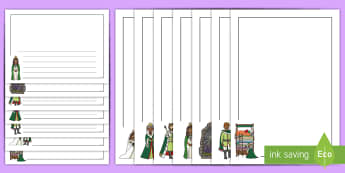 The Princess and the Pea Page Borders - The Princess and the Pea, Literacy, writing, page border, a4 border, template, writing aid, writing border, page template, prince, queen, princess, pea, castle, fairytale, traditional tale, Hans Christian Ander