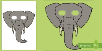 Elephant Role Play Masks - safari, zoo, animals, africa, india,