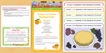 Coloured Toppings Pancake Playdough Busy Bag Prompt Card and Resource Pack - EYFS, Pancake Day, February, 28th, Shrove Tuesday, pancake, colour, playdough, pay dough, play doh,