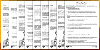 Chinese New Year Differentiated Reading Comprehension Activity Romanian Translation - English/Romanian - Chinese New Year Differentiated Reading Comprehension Activity - chinese new year, sheet, comprehesi