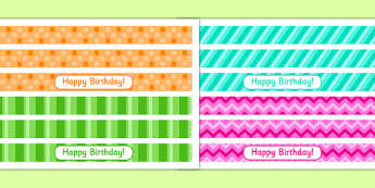 9th Birthday Party Cake Ribbon - 9th birthday party, birthday party, 9th birthday, cake ribbon