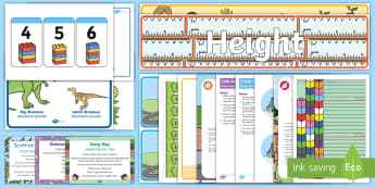 Childminder Maths: Height EYFS Resource Pack - Maths, Mathematics, Height, childminding, child minders, Long, Short, High, Low