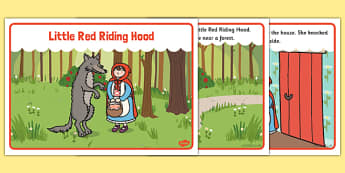 Little Red Riding Hood Story - Little Red Riding Hood, traditional tales, tale, fairy tale, Wolf, Grandma, woodcutter, bed, cottage, forest, what big teeth you have