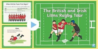 KS1 Lions Rugby Tour Information PowerPoint - KS1, Key Stage One, Key Stage 1, Year 1, Year One, Year 2, Year Two, Rugby, Rugby Union, Rugby Tour,