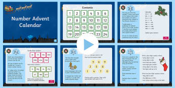 Number Advent Calendar PowerPoint - maths, mathematics, numeracy, PowerPoint, problem solving, addition, add, sum, subtraction, takeaway