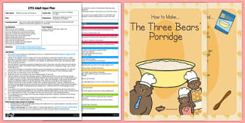 Writing Instructions Making Porridge Adult Input Plan Resource
