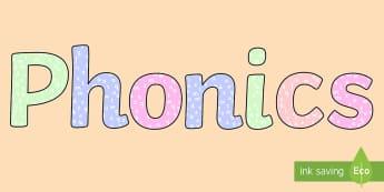Phonics Title Alphabet Themed Display Lettering - English with Letters Title Display Lettering - english, letters, title, display lettering,letering,l