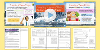 States of Matter Introduction: Solids, Liquids and Gases Lesson Pack - states of matter, particles, solids, liquids, gases, evaporation, condensation, vapour