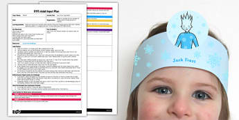 Jack Frost Tag Game EYFS Adult Input Plan and Resource Pack - lesson plan, game