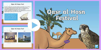 Qasr al-Hosn Information PowerPoint - Life in the UAE, tourism, location, ruler, federation, landmarks, history, geography, economy, Qasr