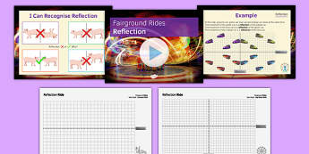 Fairground Rides Reflection SEN MLD - maths, KS3, SEN, MLD, geometry, transformations, translation, reflection, project,