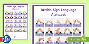 British Sign Language (BSL) Alphabet Signer's View Display Poster - sign language, bsl, learn bsl, learn bsl alphabet,