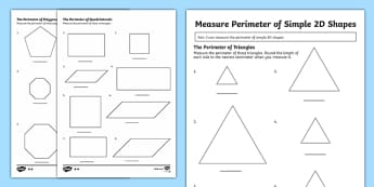 Measure the perimeter of simple 2-D shapes - New 2014 Curriculum