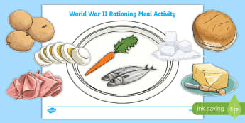 WW2 Rationing Meal Activity - ww2, world war two, rationing, meal, ration, activity