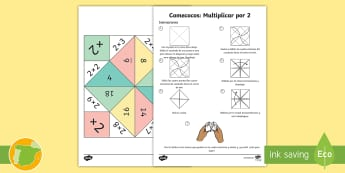 Comecocos: Multiplicar por 2 - juego, mates, matemáticas, por dos, x2,