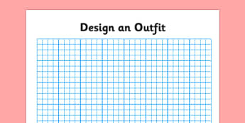 Squared Paper Design an Outfit - design, outfit, art, fashion