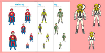 Action Toy Size Ordering - traction man, action toy, size ordering, size, order, ordering