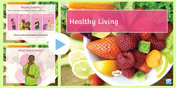 KS3 SEN Healthy Eating and Living PowerPoint -  - Healthy Eating and Living Powerpoint - powerpoint, power point, interactive, powerpoint presentation