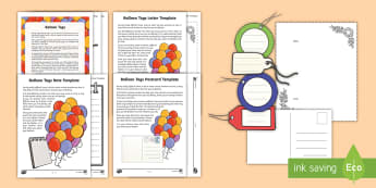Balloon Tags  Activity Pack - safeguarding, impact, loss, grief, grieving, message, PSHE, wellbeing, bereavement