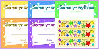 Stars of the Week Welsh Display Pack