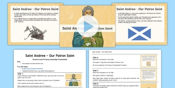 St Andrew - Our Patron Saint Assembly Pack - Group, Scotland, Scottish, Saltire, School, Christian, Religious, Celebration,