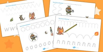 How to Train Your Dragon Pencil Control Worksheets - worksheet
