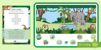 Long and Short Can You Find...? Poster and Prompt Card Pack - Maths, Mathematics, length, Sensory Play, Long, Short, long,