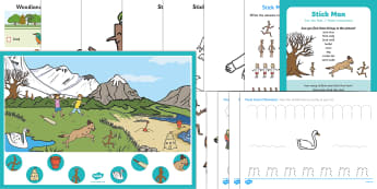 Childminder EYFS Resource Pack to Support Teaching on Stick Man