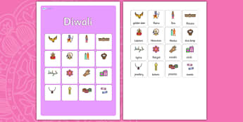 Diwali Vocabulary Matching Mat -diwali,  vocabulary, matching mat, word mat, vocabulary mat, vocab mat, keyword, key word mat, key words, key-words