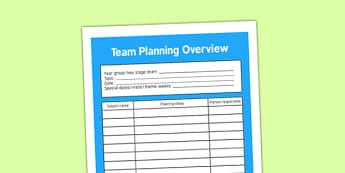 Team Planning Overview - team planning, overview, planning overview, team