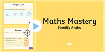 Year 5 Geometry Shape Identify Angles Maths Mastery Activities PowerPoint