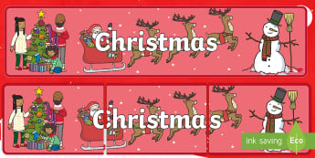 Christmas Display Banner - christmas, display banner, display, banner, banner for display, classroom display, header, display header, themed banner, display