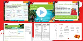Christmas in France Lesson Pack French - festivals, customs, culture, noel, celebrations,French