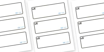 Panda Themed Editable Drawer-Peg-Name Labels (Blank) - Themed Classroom Label Templates, Resource Labels, Name Labels, Editable Labels, Drawer Labels, Coat Peg Labels, Peg Label, KS1 Labels, Foundation Labels, Foundation Stage Labels, Teaching Labels