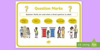 Question Marks Punctuation Poster - questions, punctuation