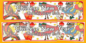 Chinese New Year Display Banner Polish Translation - polish, chinese new year, display banner, display, banner