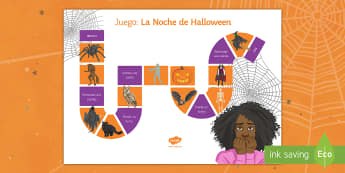 Halloween Board Game Spanish - game, groups, 31st, October, Festivities, Celebrations, Vocabulary