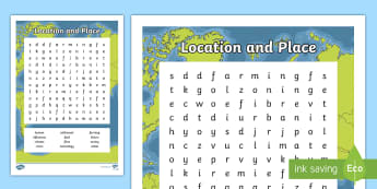 Location and Place Word Search  - ACHASSK113, Year 5, AC, Geography, vocabulary, word recognition, metalanguage, spelling,Australia