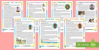 Influential Indigenous Australians Differentiated Reading Comprehension Resource Pack - Famous Indigenous Australians,Australia, reading, comprehension, inspiration, figures, famous, abori