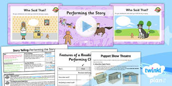 Traditional Tales: The Gingerbread Man: Storytelling 3 Y2 Lesson Pack - traditional stories, retelling, oral, talk for writing, pie corbett