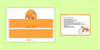 Foundation PE (Reception) Foxes and Bunnies Warm-Up Activity Card - physical activity, foundation stage, physical development, games, dance, gymnastics