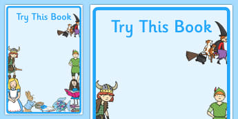 Try This Book Display Posters - try this book display posters, try, book, display, poster, sign, reading, read, books, reading area, new, new book, story, story resources