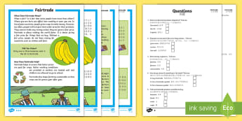 Fairtrade Differentiated Reading Comprehension Activity English/Mandarin Chinese - KS1, Key Stage 1, Key Stage One, Year 1, Year 2, Reading Comprehension, Fact File, Differentiated, R