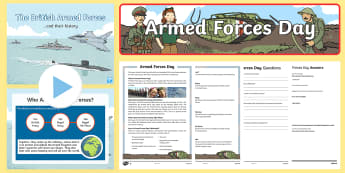 Armed Forces Day KS2 Resource Pack - army, Air force, Navy, SAS, Soldiers