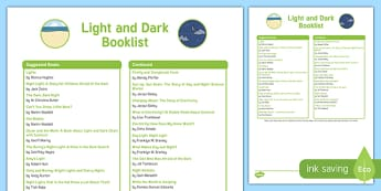 Light and Dark Book List