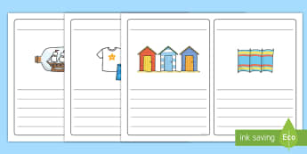 Seaside Simple Sentence KS1 Writing Frames - seaside, simple sentence, writing frame, EYFS, KS1