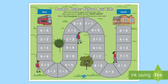 Doubles Addition Bus Board Game - addition, bus, game, doubles, Australia
