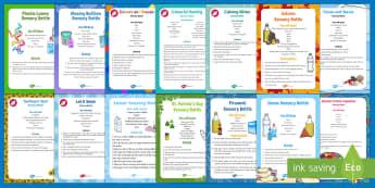 Sensory Bottles Resource Pack - Sensory Ideas, Visual Impairment, Dementia, Activity Co-ordinators, Support, Sensory, Elderly Care,