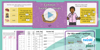PlanIt Spelling Y2 Term 2B W6: Common Exception Words Spelling Pack - Spellings Year 2, Term 2B, W6, common exception words, tricky words