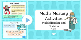 Maths Mastery Activities Year 6 Multiplication and Division PowerPoint